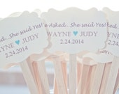 Wedding Drink Stirrers-Engagement Party - Stir Sticks- Coffee Stirrers-Drink Stirrers-Signature Drinks-He Asked, She said Yes! Set of 25
