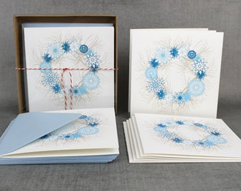 Snowflake Wreath Holiday Cards