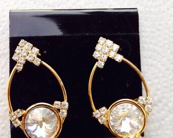 Blast from the past - rhinestone earrings