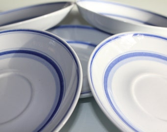 "5 replacement ""Blue Rose"" saucers by Arabia Finland"