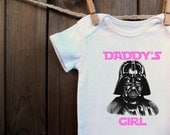 Geeky Darth Vader Daddy's Girl Bodysuit Baby Infant toddler carters