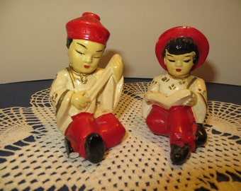 Handpainted Vintage Oriental Figurines