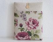 Rose Garden / iPad Air  sleeve, iPad cover- 8 inch custom padded cover