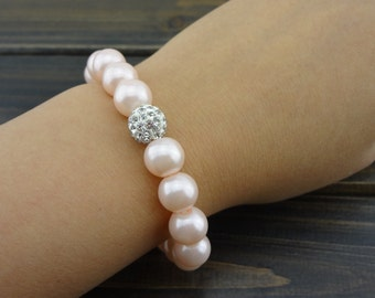 10 mm fashion pink pearl bracelet