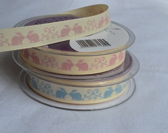 Decorative 'Bunny Rabbit' 15mm Ribbon made by Berisford