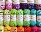 Cotton Yarn 20 colourful balls 50gr each ready to ship by CrochetObjet