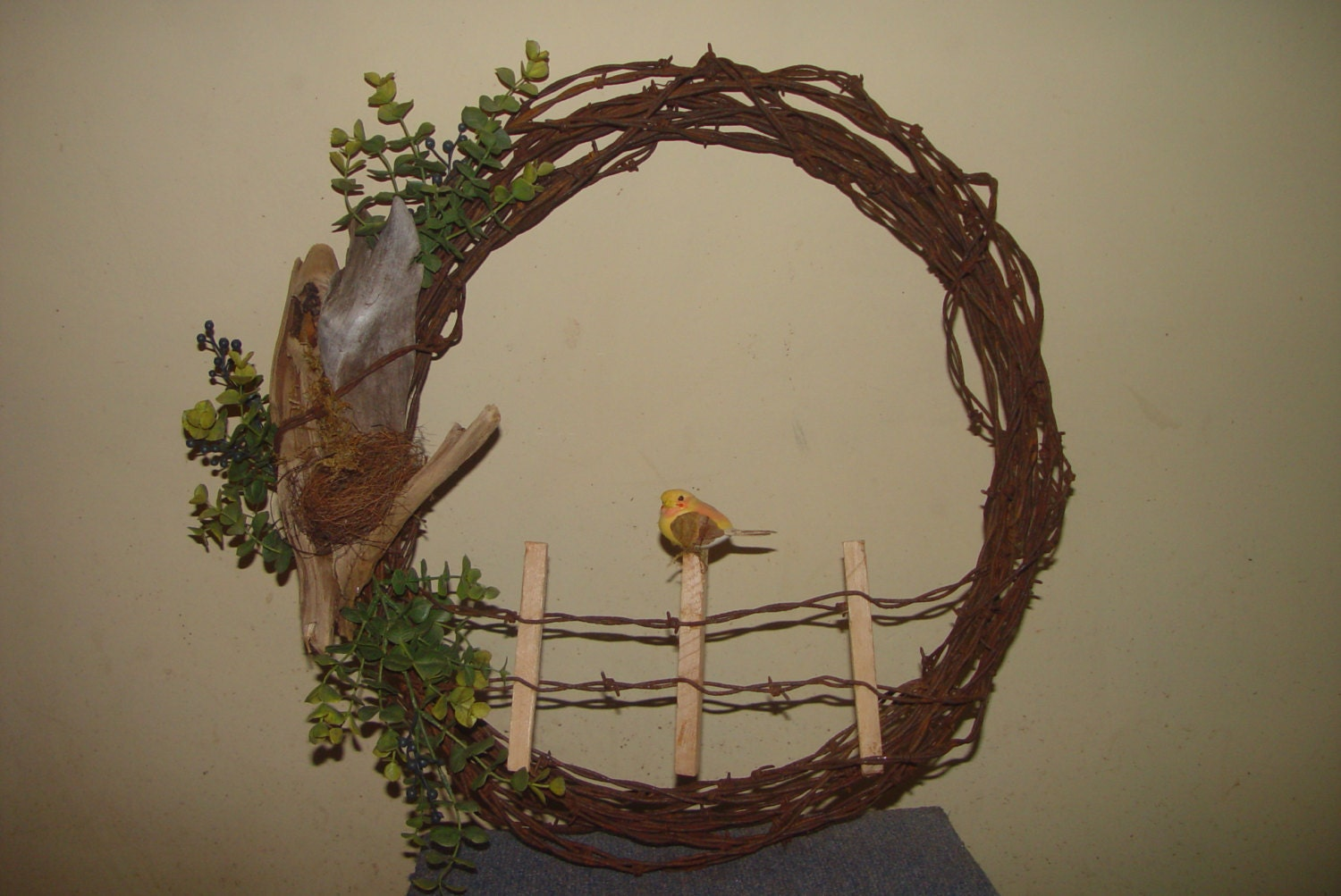Vintage Barbed Wire Wreath That Reflects The Beauty Of