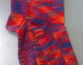 Prime time hand knitted woollen socks