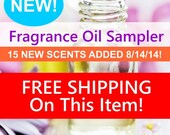 Fragrance Oil Sampler - FREE SHIPPING - Choose From 148 Scents
