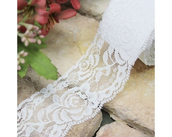 Adhesive deco white cotton lace roll tape - 32 by J&Bobbin (Fallindesign)