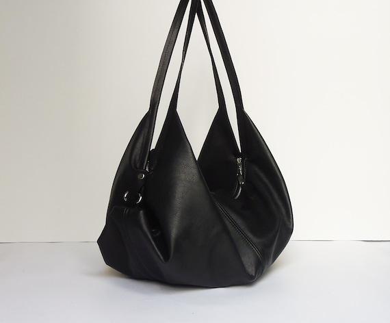borsa nera grande morbida