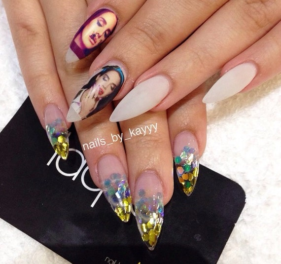 LANA DEL REY Blue Jeans Nail Decals Nail Art By Chachacovers
