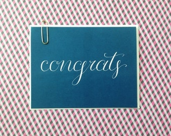 Congratulations Card, Calligraphy
