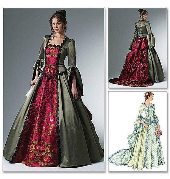 Women 39 s victorian costume dress pattern mccall 39 s for Victorian style wedding dress pattern