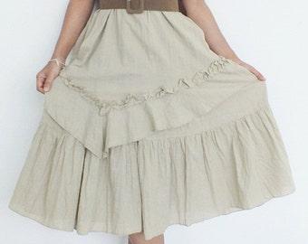 25% SALE Sweet Cream Dress Layer... MAxi Dress Cotton Wedding dress plus size dress/Maxi Dress(Free Shipping)