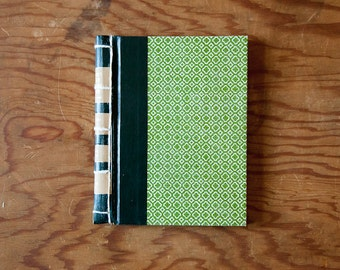 green handmade journal // hard bound journal