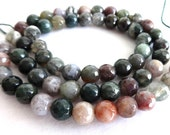 6 mm Colorful Faceted Agate Semi Precious Gemstone Beads