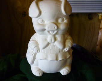 Ms. Piggy Bank  Ready to Paint