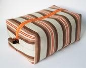 Toiletry Bag Retro Tangerine stripes vintage '70