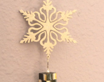Scrollsaw Snowflake, Christmas Ornament, Suncatcher, Home Decor, Beth Baker Artist