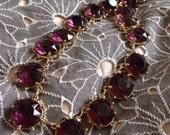 Vintage 1960s Amethyst Purple Glass Necklace Choker