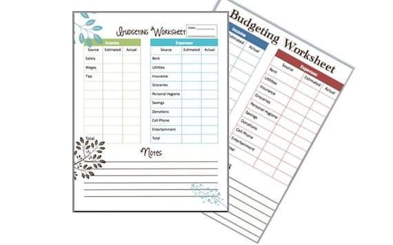 Budgeting Worksheet Basic Home Budget Teen Budgeting – Budgeting Money Worksheets