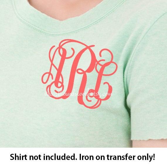 monogram iron on monogram iron on transfer iron on letters heat transfer monogram