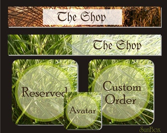 Premade Shop Banners. Spring Summer. Green Grass. New Shop Banners. Northern Europe