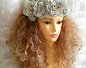 Hand made Flower Headdress headpiece crown tiara Hairband Festival WEDDING By OpheliasFolly