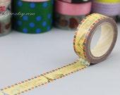 ANGOO Masking Tape - Washi Tape - Paper Tape - Masking Sticker - Deco Tape - Diary - Filofax - A017