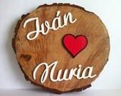Slice xl custom wooden names