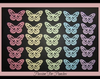 50 Nearly 2 inch Monarch Butterfly Die Cuts Punches For Scrapbook Cards Party Confetti Crafts Embellishments