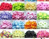 100 Plumeria Frangipani Heads - Artificial Silk Flower - 3 inches - Wholesale Lot - for Wedding , Make Hair clips, headbands