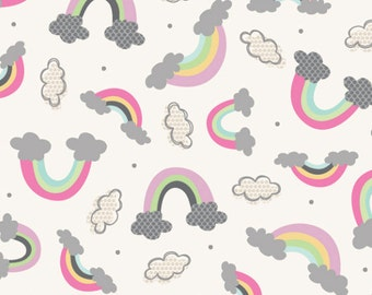 Raining Rainbows - Fabric By The Yard