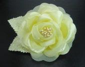 Rose Hair Clip, Flower Hair Clip, Yellow Hair Flower, Girls Hair Clip, Rose Flower Clip, Rose Hairclip