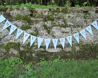 Happy Birthday Banner - Personalized Bunting, Garland, Sign, Flags, Pennants in polka dots Party Decoration Nursery