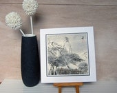 Vintage Art Print, Mountain Ma. Vintage Art Print.  Wind of the Himalayas. Feng Shui, Zen nature, Silence, Relax. SALE