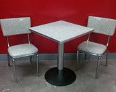 Gorgeous Mid Century 1950's Vintage Rare American Made Classic Chrome Table with 2 Chairs