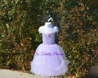 Lavender tutu dress/Princess tutu dress/girl tutu dress/Halloween tutu/costume/Princess Belle/photo prop
