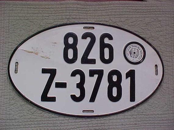 vintage german license plate
