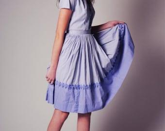 50s Vintage dress Lavender  dress