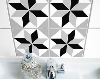 "TILE STICKERS - set of 4 - ""POLYGON 05"""