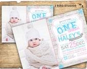 Winter ONEderland birthday party invitations - Winter ONEderland invitation - Rustic winter onederland party DIY printable invitation
