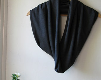 Melbourne Grey - Ponte knit scarf / shrug