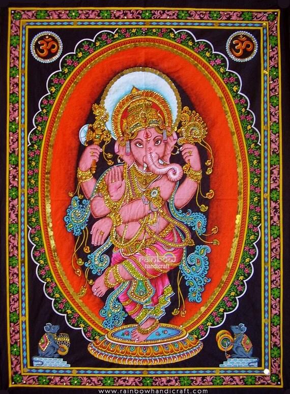 Dancing Ganesha Wall Hanging Hindu Elephant God Ganesh