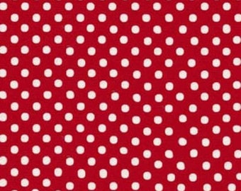 Red Medium  Polka Dots from Color Basics by Lecien