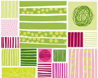 Twisted Panel in Pink/Green from Stof of Denmark