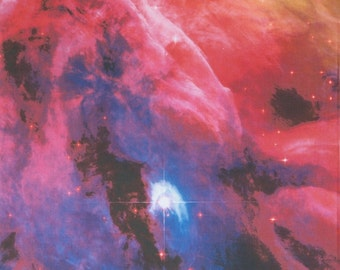 Orion Nebula  Astronomy Fabric Print 16 x 18 inches Hubble Photograph on Kona Cotton