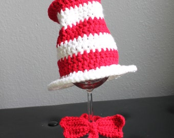 Dr. Suess Cat in the Hat Bowtie & Hat