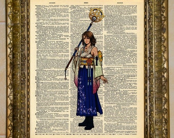 Final Fantasy X Yuna Dictionary Art